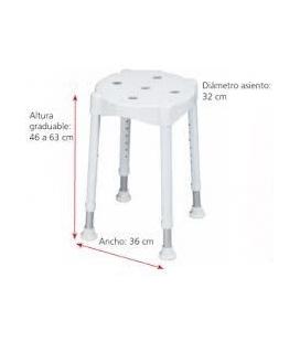 TABURETE DE DUCHA MILANO