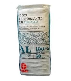 DISCOS DESMAQUILLANTES CON ALOE (50 UDS)