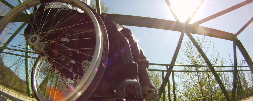 """""""Running"""" y senderismo en silla de ruedas"""